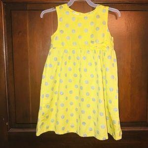 ⭐️5/$20⭐️Wonder Kids yellow silver polka dot dress
